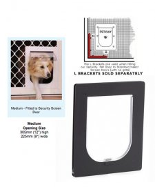 Petway Security Pet Door Medium Black