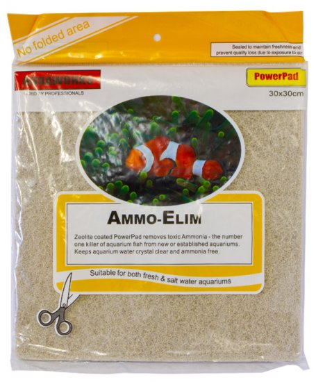Aquaworks Polyfibre Ammonia Pad 30x30x2cm for Fresh Water and Salt Water - Click Image to Close