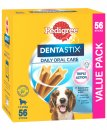 Pedigree Snacks Dentastix Medium Dog 56Pack 10-25kg