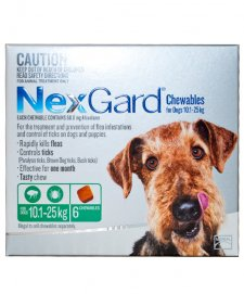 NexGard Chews Medium 10-25kg 6Pack