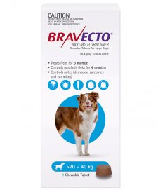 Bravecto Chews For Dogs Large 20-40kg 1Pk