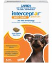 Interceptor Chews Dog Upto 4Kg XSmall Red 6 Pack
