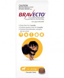 Bravecto Chews for Dogs Very Small 2-4.5kg 1Pk