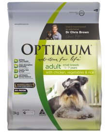 Optimum Dog Adult Small Breeds Chicken Vegetables Rice 3Kg