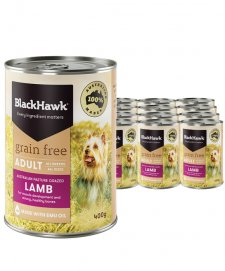 Black Hawk Dog Grain Free Wet 12x400g Lamb