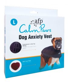 AFP Calm Paws Anxiety Vest for Dogs Large 41-64 lbs