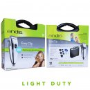 Andis LightDuty EasyClip PM1 Whisper Trimmer with 4 Guide Combs