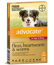 Advocate Dog 10-25Kg Large Red 6Pack