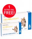 Revolution Cat 2.6-7.5Kg Blue 6Pk + Free 1 Bonus Vials