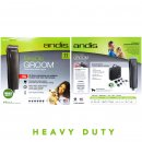 Andis HeavyDuty EasyClip MBG2 Clipper Black with 6 Guide Combs