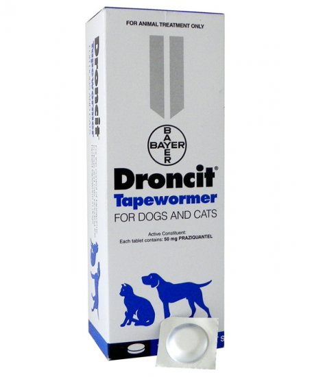 Bay-O-Pet Droncit Dogs and Cats 10kg Tablet Each (Per Tablet