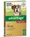 Advantage Dog 10-25Kg Large Red 6Pack