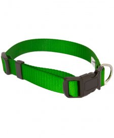 Beaupets Collar Polyware Adjustable 40-60Cm Green