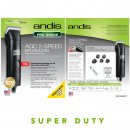 Andis SuperDuty AGC2 Brushless Pro Grade Pet Clipper 2 Speed Black