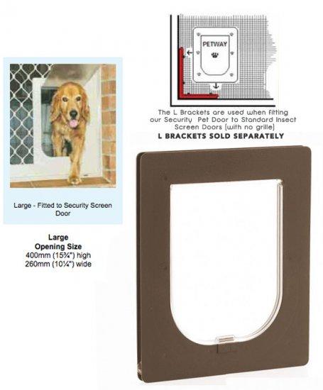 Petway Security Pet Door Large Brown Stefmar Pet Care