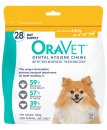 Oravet Dental Chews XSmall 28Pack for Dogs upto 4.5kg