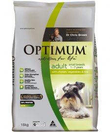 Optimum Dog Adult Small Breeds Chicken Vegetables Rice 15Kg