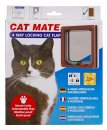 Petmate Cat Mate Door 4Way Locking Brown