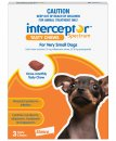 Interceptor Chews Dog Upto 4Kg XSmall Red 3 Pack