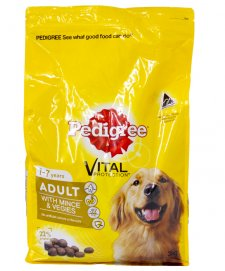 Pedigree Adult 1-7Years With Mince & Vegies 20kg