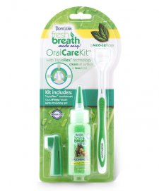 Tropiclean Fresh Breath Oral Care Kit for Med to Lrg Dogs