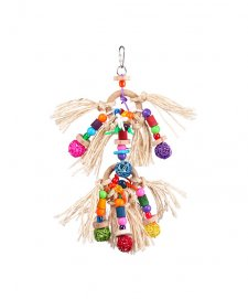 Kazoo Bird Toy With Sisal Rope Bell Small
