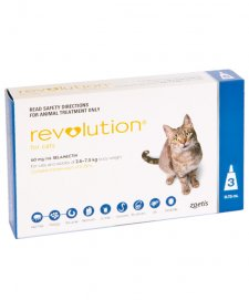 Revolution for Cats 2.6-7.5Kg Blue 3Pack