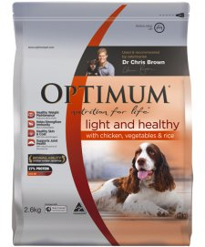 Optimum Dog Light & Mature Chicken Vegetables Rice 2.6Kg