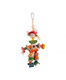 Kazoo Bird Toy Man With Sisal Rope Chips Medium