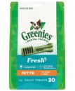 Greenies Canine Snacks Treat-Pak Petite Mint 340g 20pack