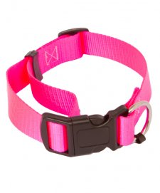 Beaupets Collar Polyware Adjustable 28-45Cm Pink