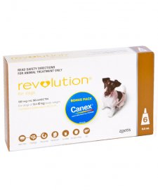 Revolution Dog 5-10Kg Medium Brown 6Pk + Bonus Canex