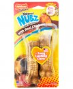 Nylabone Nubz Bone Chicken Bacon 2Pack Small