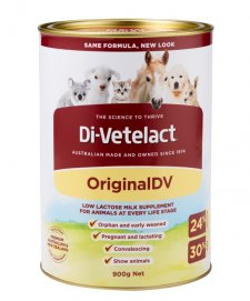 Di-Vetelact 900g Can Low lactose Animal Supplement
