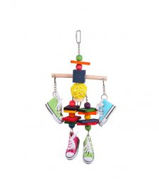 Kazoo Bird Toy Wooden Tee With Sneakers Chips Large