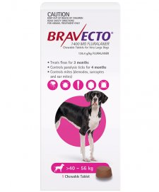 Bravecto Chews For Dogs Very Large 40-56kg 1Pk