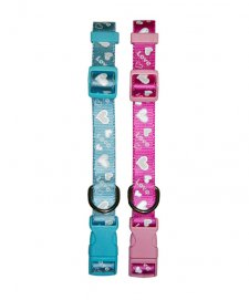 Beaupets Cat Collar Adjustable Love Heart Blue