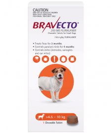 Bravecto Chews For Dogs Small 4.5-10kg 1Pk