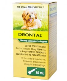 Bay-O-Pet Drontal Worming Suspension 30ml Dogs and Puppies