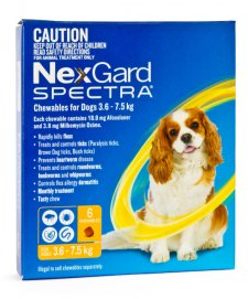 NexGard Spectra Chews For Dogs Small 3.6-7.5kg 6Pack
