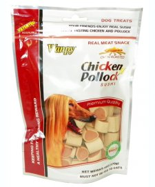 Wanpy Chicken Jerky With Pollock Sushi 100g