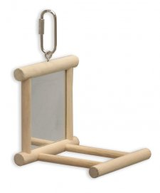 Kazoo Mirror With Perch Wooden