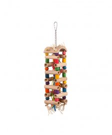 Kazoo Bird Toy Tower Toy With Sisal Beads Large