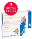 Revolution Cat 2.6-7.5Kg Blue 6Pk + Free 3 Bonus Vials