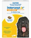 Interceptor Chews Dog 11-22Kg Medium Yellow 3 Pack