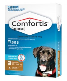 Comfortis for Dogs 6 Pack Brown 27.1-54Kg
