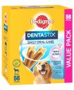 Pedigree Snacks Dentastix Large Giant Dog 56Pack Over 25Kg