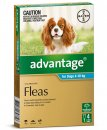 Advantage Dog 4-10Kg Medium Aqua 4Pack