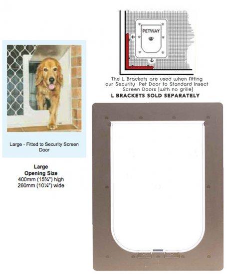 Petway Security Pet Door Large Bronze Stefmar Pet Care