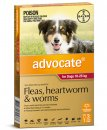Advocate Dog 10-25Kg Large Red 3Pack